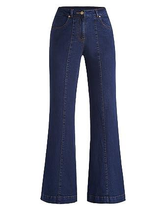 f77413e2da4 JD Williams Womens Simply Be Denim Pixie Wide Leg Jeans Indigo