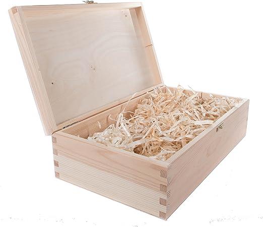 Compra SearchBox - Caja de Madera para Vino con bisagras ...