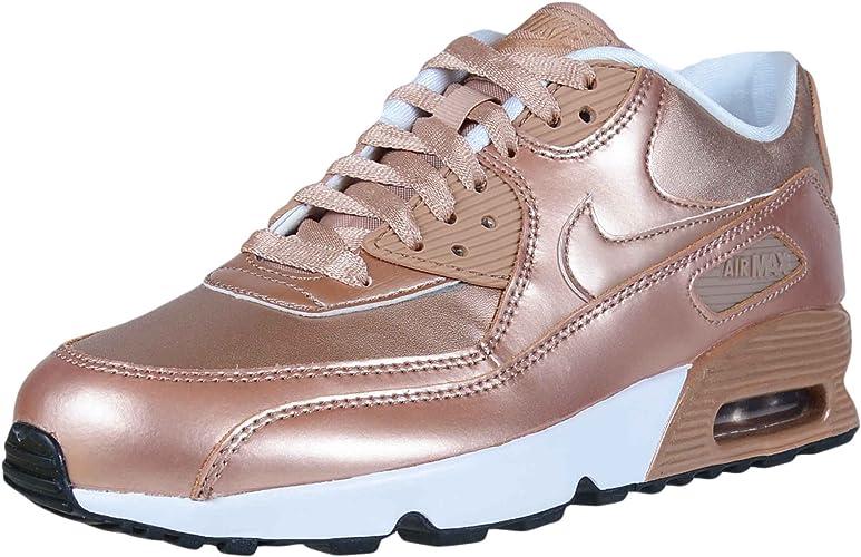 Nike Air Max 90 SE Big Kids Leather Metallic RedBronze 859633 900 (Size: 4Y)