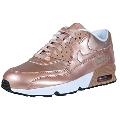 ad46ea047124 Nike Air Max 90 SE Big Kids Leather Metallic Red Bronze 859633-900 (