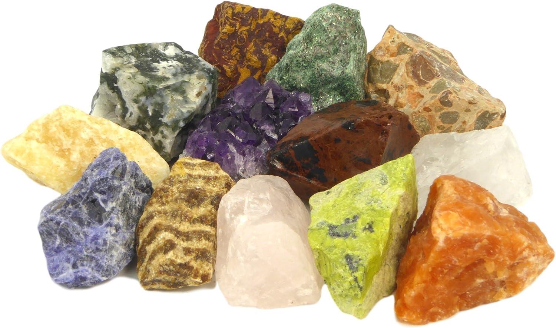 Natür Roh Kristall Stein Reiki Heilung Edelstein Rauer Mineralien Sammeln Gift