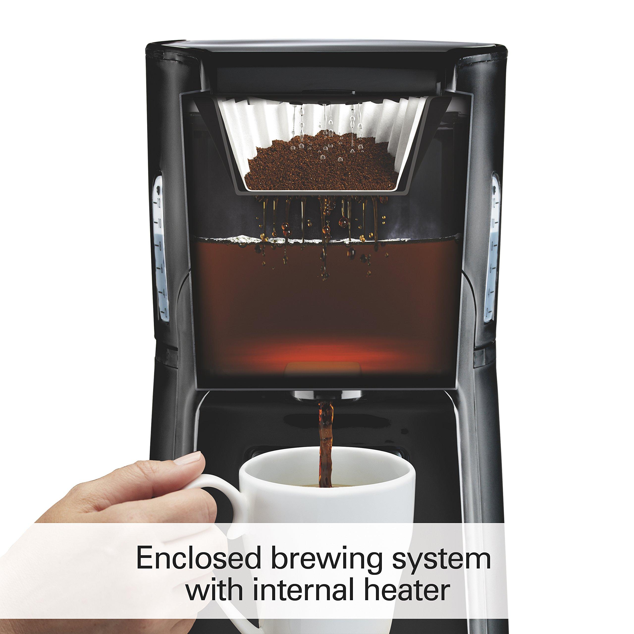 Hamilton Beach (48464) Coffee Maker with 12 Cup Capacity & Internal Storage Coffee Pot, Brewstation, Black by Hamilton Beach (Image #2)