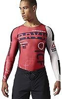 Reebok Men's Crossfit PWR5 Compression Top Tee Shirt Red AB4902, Medium