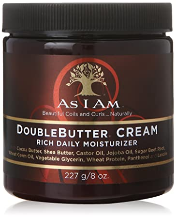Amazon.com : As I Am Double Butter Cream - 8 Ounce - Rich Daily Moisturizer  - Soft and Shiny Curls and Coils - Repairs Split Ends - Strengthens Hair -  Enriched with