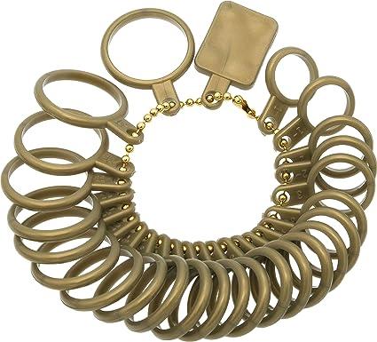 White Jewelry Sizing Tools Rings Size 1-17 USA Sizes Mandrel Measurement Finger Size Gauge Measure Tool Wenini Measure Finger Gauge Ring Sizer