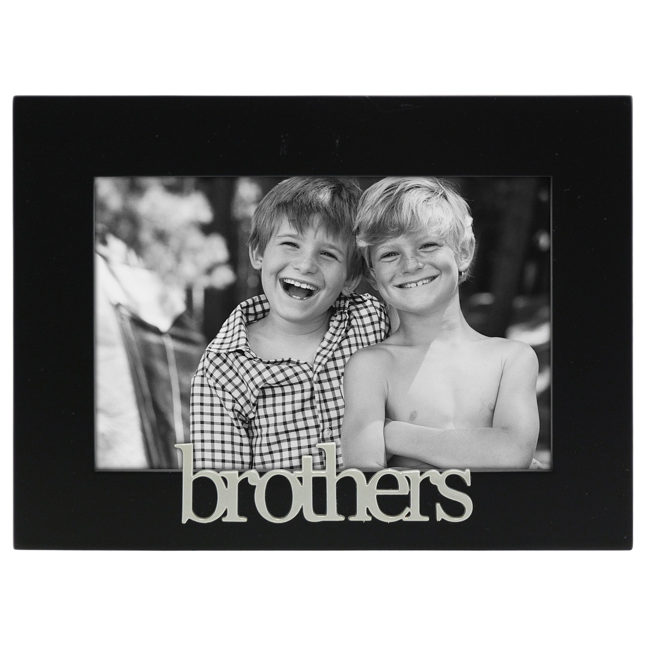 Amazon first my brother forever my friend 4x6 inch wood malden international designs brothers expressions picture frame 4x6 black jeuxipadfo Choice Image