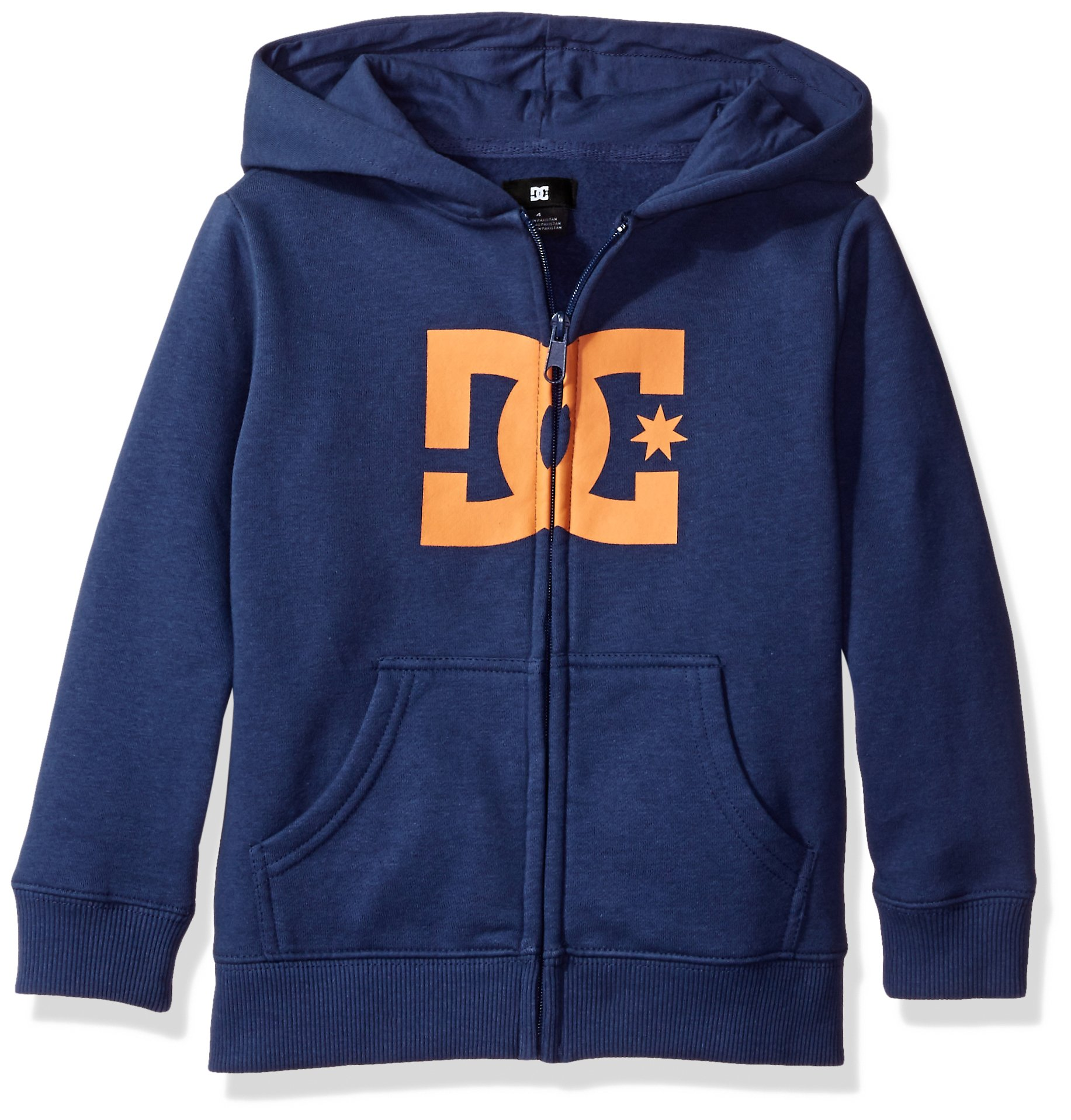 DC Youth Little Boys' Star Zip-up Sweatshirt Hoodie, Summers Blue/Muskmelon, 4 by DC