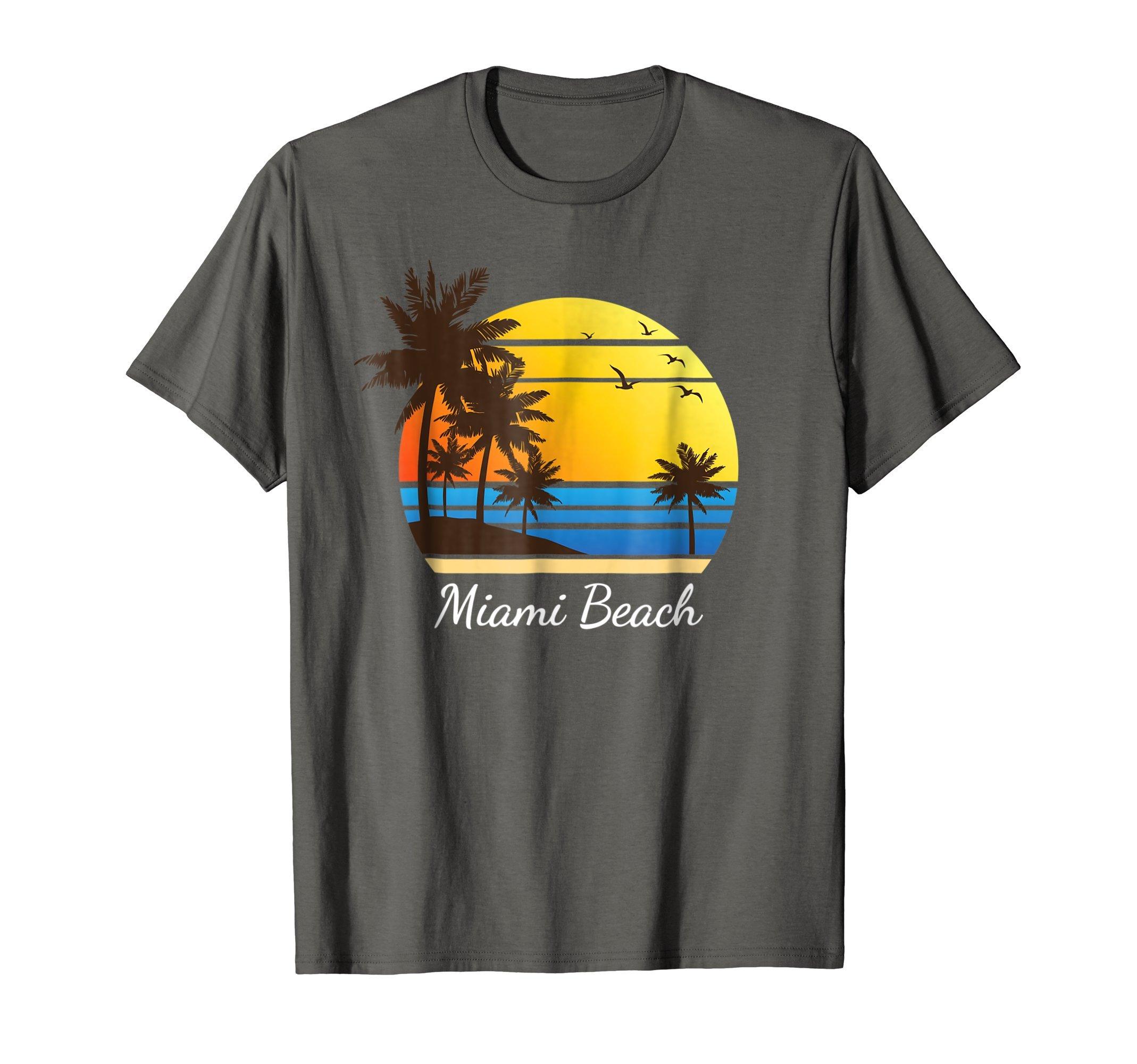 Miami Beach Florida T-Shirt Gift Travel Fl Souvenir Girl Tee