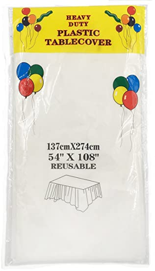 Fallseven Pack Of 4 Plastic Rectangle Party Tablecloths   Kitchen Picnic  Birthday Party Disposable Plastic Tablecover