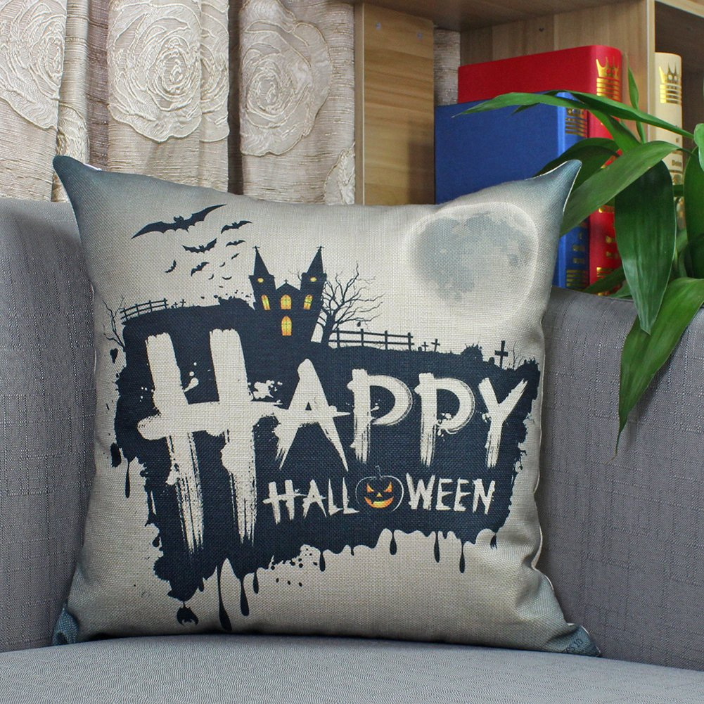 ZAZHUZAI 4 Pack Throw Pillow Covers 18 x 18 Inch Square Cushion Cover Printing Merry Christmas Series Decoratve Pillowcases Chende A square