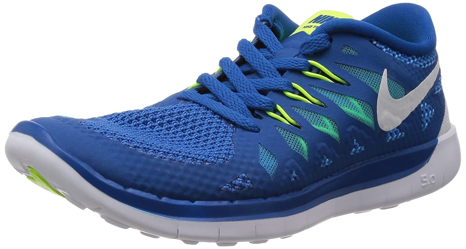 1b20a979b0bb Nike Free 5. 0 (GS) Boys Running Shoes 644428-400 Military Blue 4 M US  Buy  Online at Low Prices in India - Amazon.in