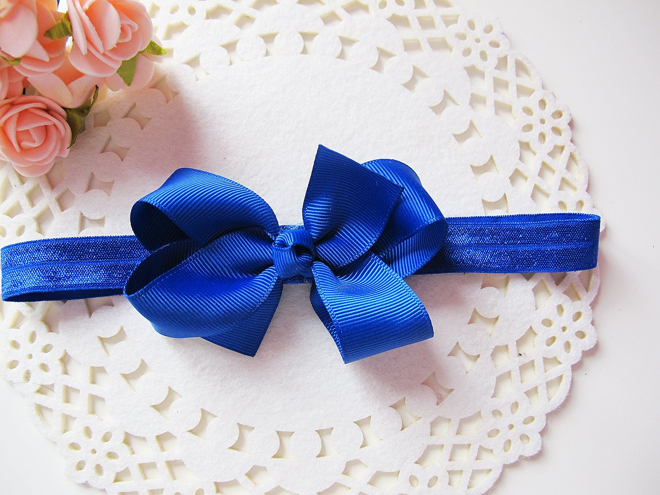 Baby Girls Hair Bows Soft Headband Hairband Hair Band Accessories (Royal  Blue)  Amazon.co.uk  Beauty 867cd9a0792