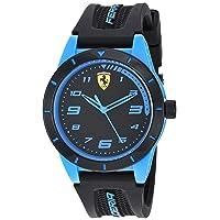 860007 Boy's RedRev Quartz TR90 and Silicone Strap Casual Watch, Black