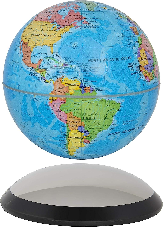 "6"" Magnetic Rotating Globe Anti-Gravity Floating Levitating Earth (Glossy Finish)"
