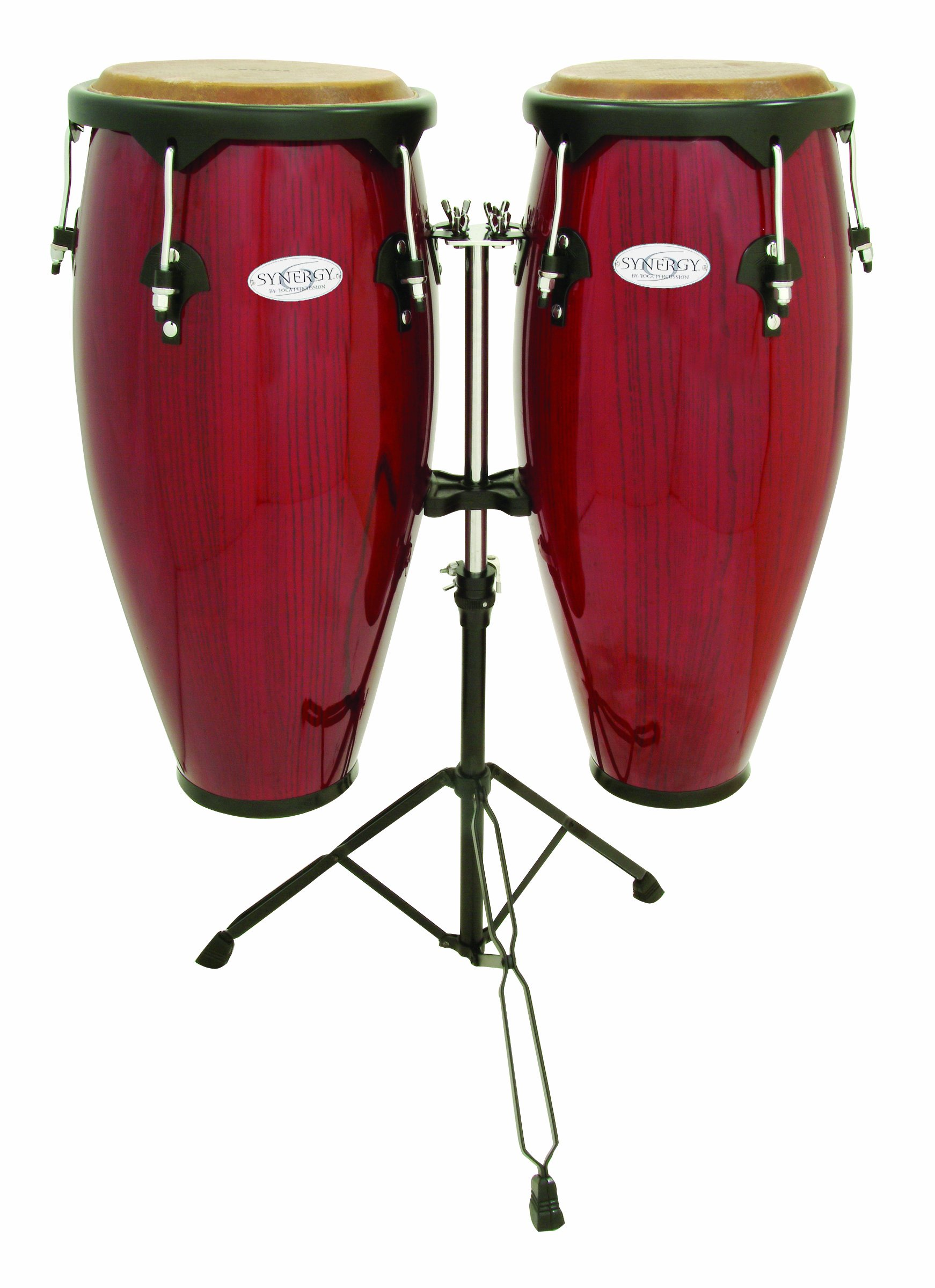 Toca 2300RR Conga Drum Set, Red by Toca