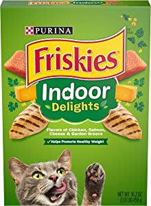 Purina Friskies Indoor Dry Cat Food, Indoor Delights - (12) 16.2 oz. Boxes