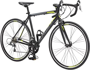 Schwinn Phocus 1400 and 1600 Drop Bar Road Bicycle for Men and Women, Alluminum Frame, 14 or 16-Speed Drivetrain, Carbon Fiber Fork, 700c Wheels, Multiple Colors