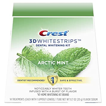 Amazon Com Crest 3d Whitestrips Arctic Mint Teeth Whitening Kit
