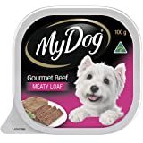 MY DOG Gourmet Beef Wet Dog Food 100g Tray, 24 Pack, Adult, Small/Medium