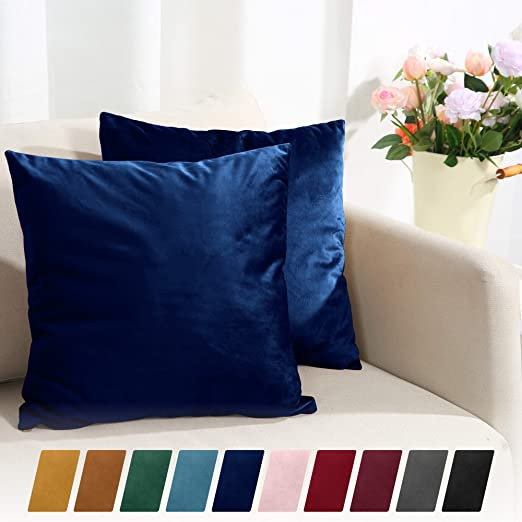 Amazon Com Sleep Mantra Throw Pillow Covers 20x20 Deep Blue