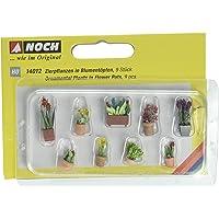 Noch 14012 Assorted Flower Pots #2 9/ H0 Scale Model Kit