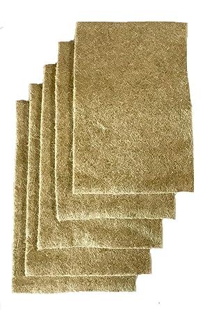 Colchoneta de cultivo hecha de 100% cáñamo, 40 x 25 cm, apr. 1 cm de grosor, paquete de 5 (EUR 3,30/pieza), estera adecuada para crecer, cress y ...