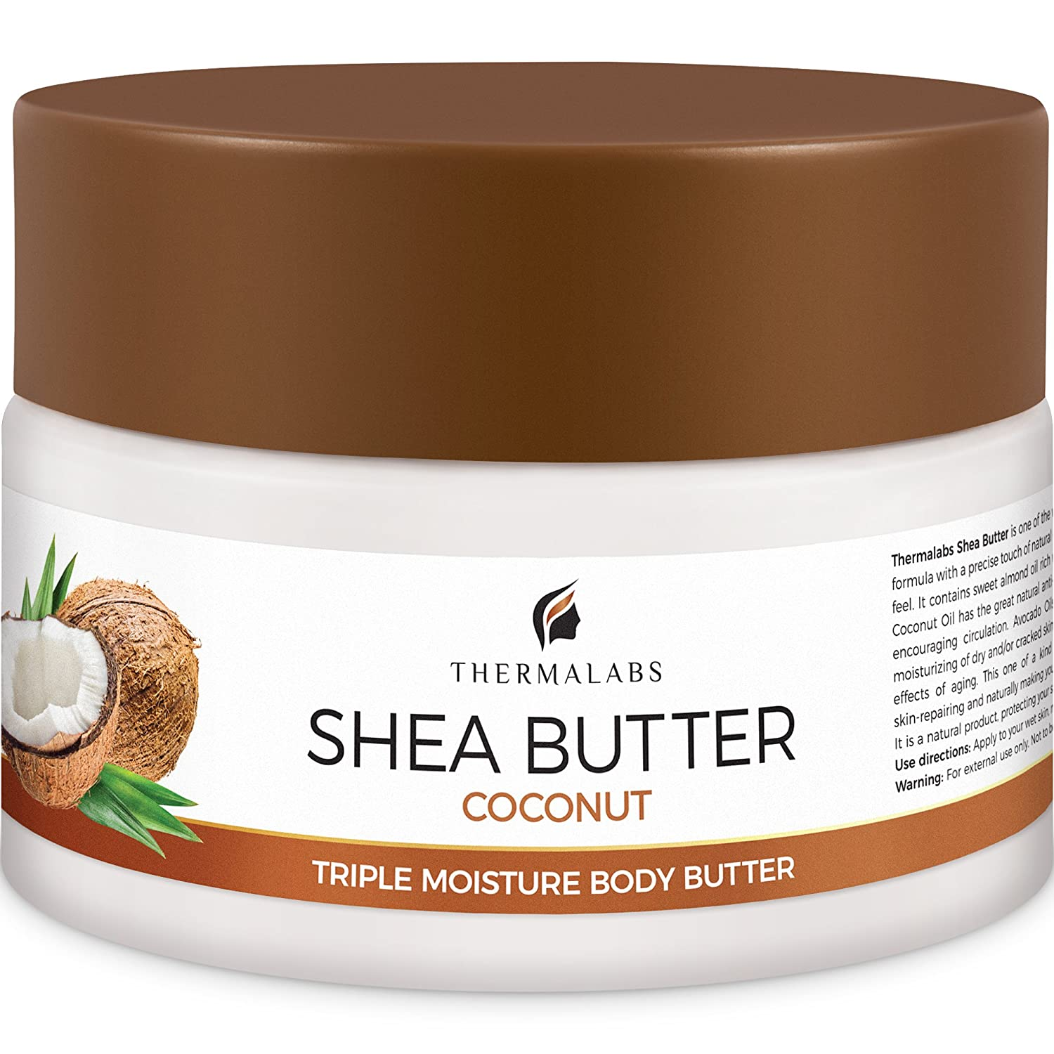 Shea Butter for Body, Stretch Marks Removal Cream: Feel Silky Smooth! Moisturizer for Dry Skin, Eczema Treatment, Pregnancy Belly Lotion with Natural & Organic Ingredients & Dead Sea Minerals (250 ml) Thermalabs