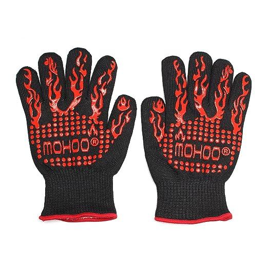 50 opinioni per Mohoo guanti/da Forno BBQ resistenti al calore guanti Forno dedicato cucina nero
