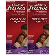 Children's Tylenol grape flavor ages 2-11 - 2 packs of 4.0 FL OZ
