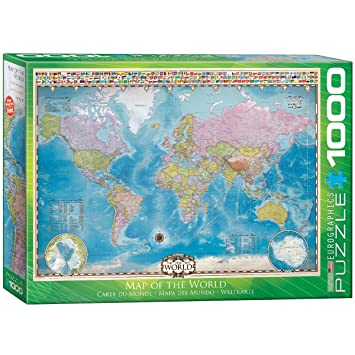 Eurographics map of the world puzzle 1000 piece jigsaw puzzles eurographics map of the world puzzle 1000 piece gumiabroncs Image collections
