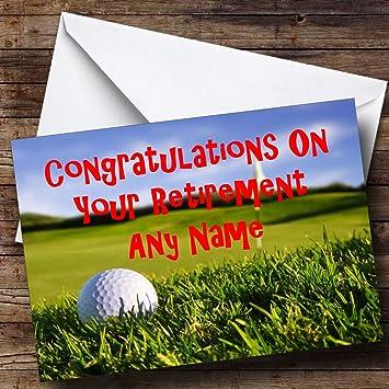 amazon com golf fan personalized retirement greetings card