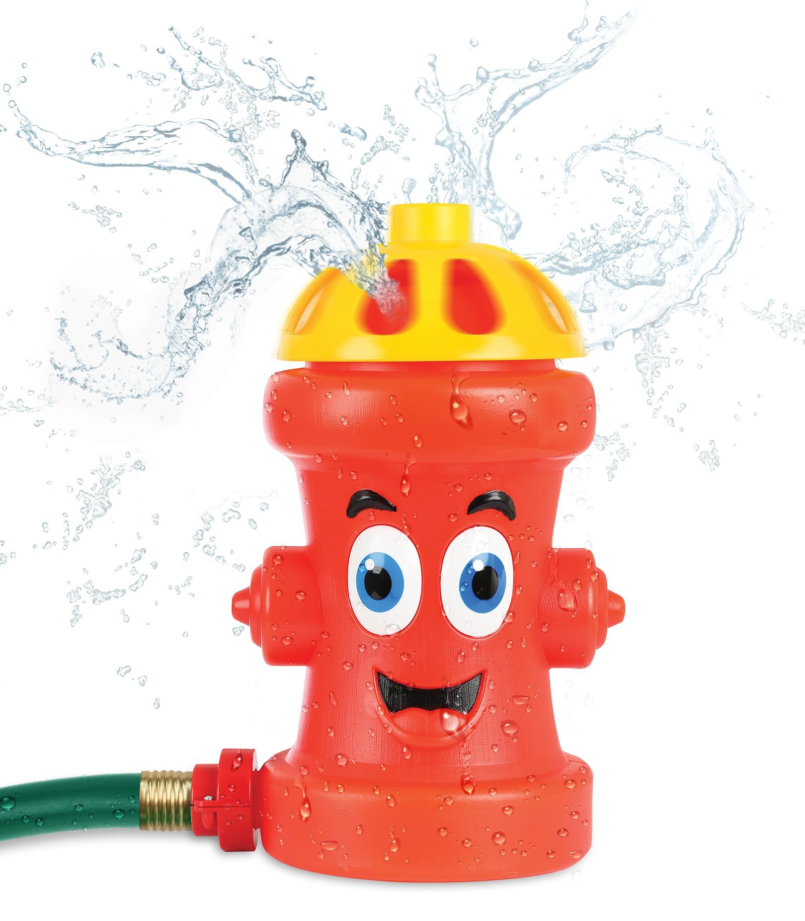 KLEEGER Fire Hydrant Sprinkler Toy For Kids: Family Summer Outdoor Game, Water Sprinkler Splash Toy