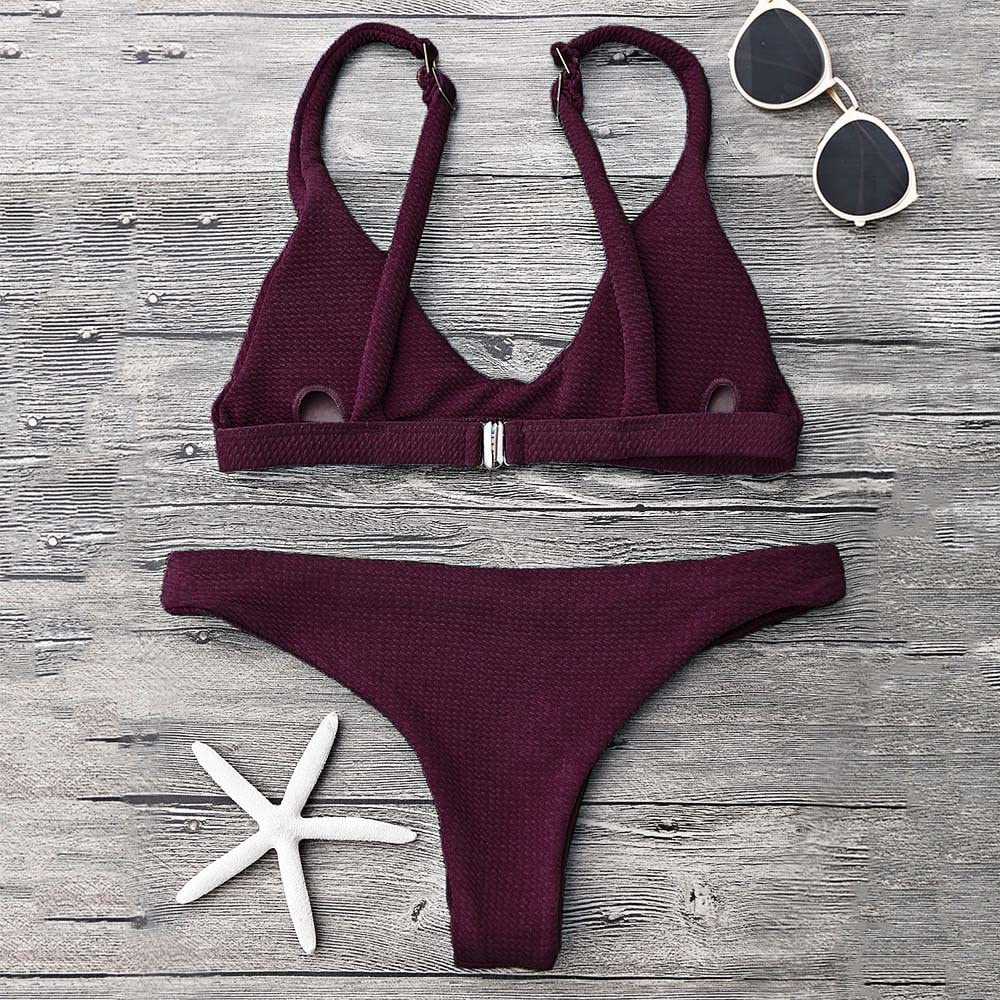 ZAFUL Mujer Bikini Conjuntos Trajes de ba/ño