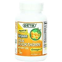 Deva Vegan Sea Buckthorn, Berry Oil, 90 Count