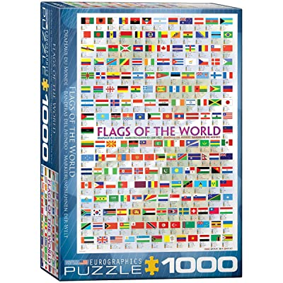 EuroGraphics Flags of The World Puzzle (1000-Piece): Toys & Games