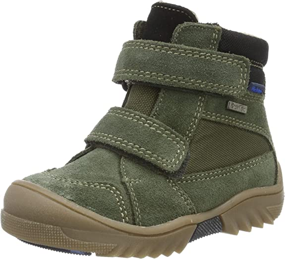 Richter Kinderschuhe Boys' Flick Snow Boots, Green (Birch/Black 8601), 6 UK,Richter Kinderschuhe,Flick 1531-641