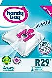 Melitta R29 Handy Bag 4 Sacs Aspirateurs, Pour Aspirateurs Moulinex et Rowenta, Fermeture Hermétique, Filtre Anti-Allergène, Filtre Moteur