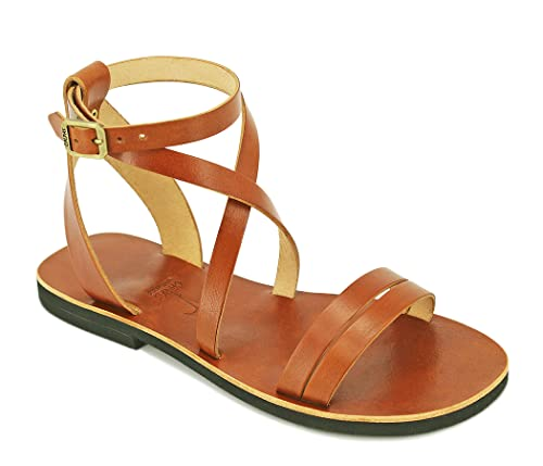 Amazon Com Strappy Sandals Unisex Gladiator Leather Sandals