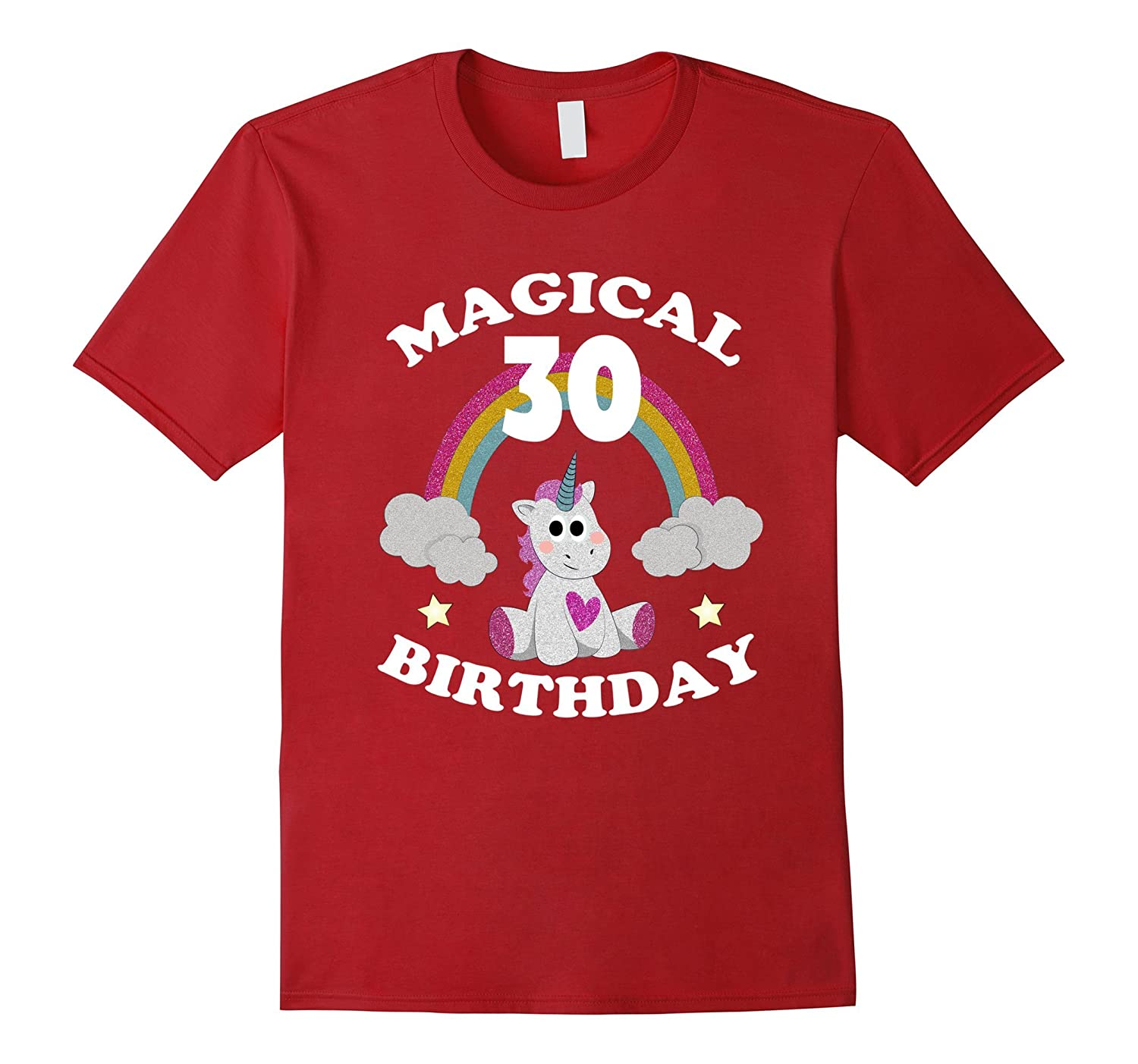 30th Birthday Shirt Magical Unicorn T Rainbow TD