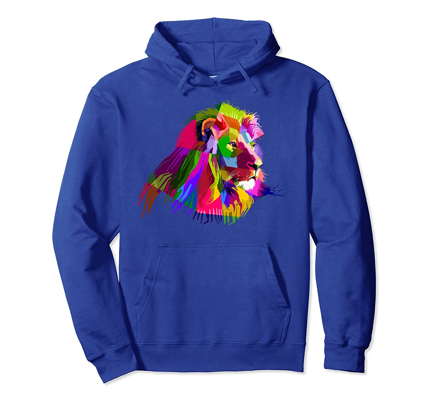 Africa Lion face Hoodie colorful South Animals Safari hoody-alottee gift