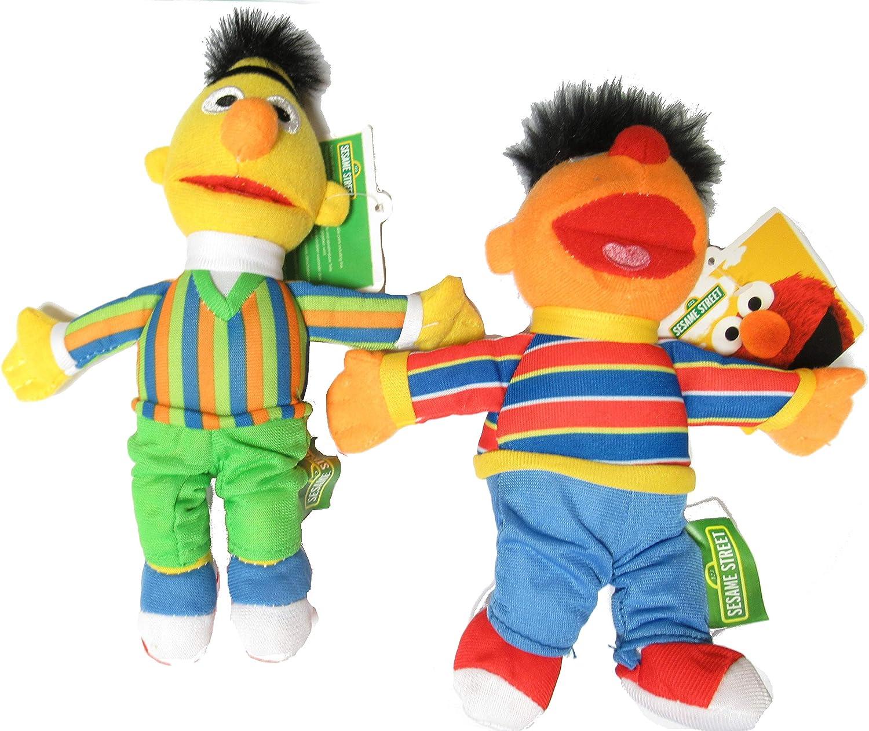 Sesame Street Par 2 Felpa Peluche 20cm Ernie y Bert Muppets Oficiales Originales