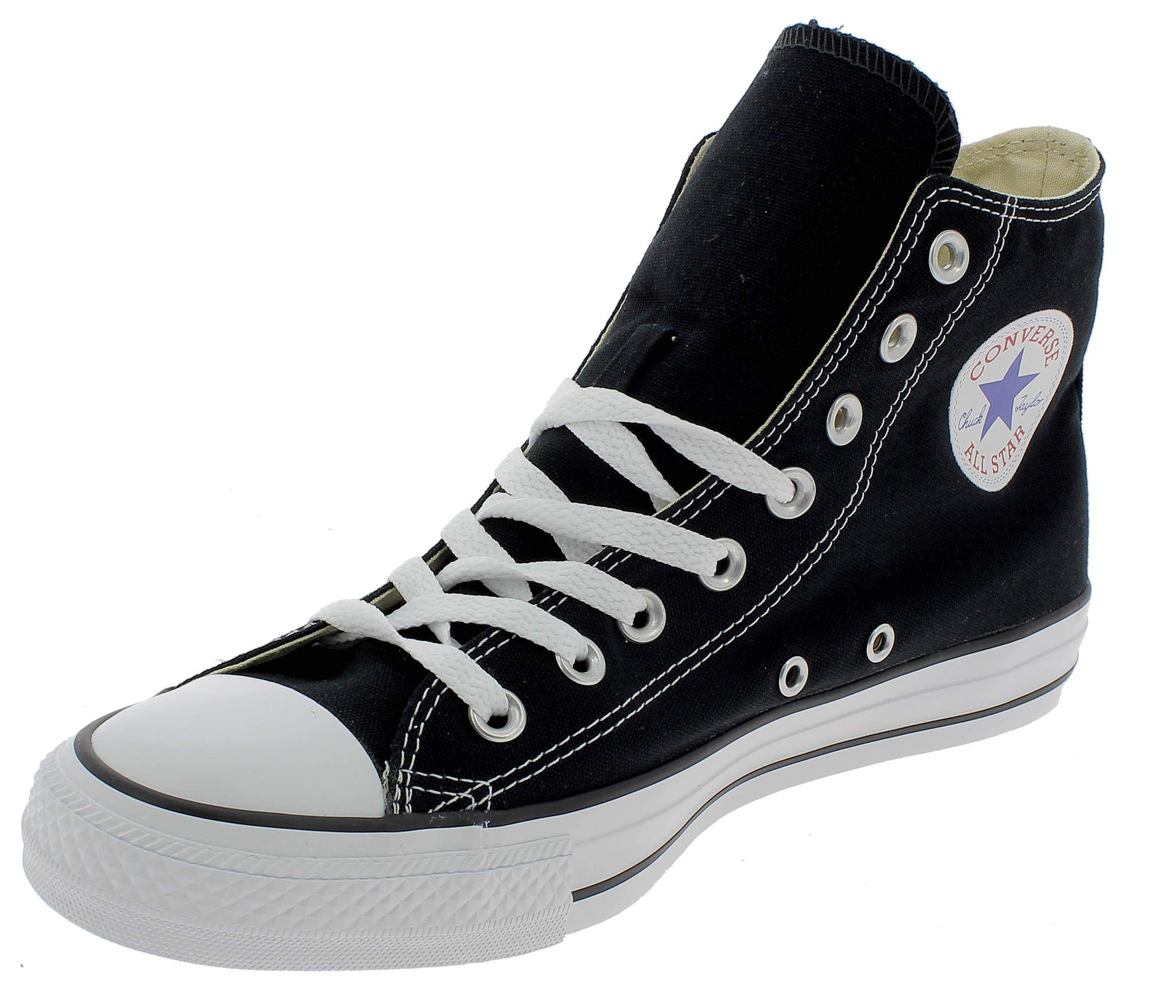 Chuck Taylor All Star Canvas High Top, Black, 4 M US