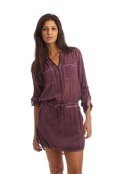 Garcia Jeans - Vestido - para Mujer Rojo Granate Medium
