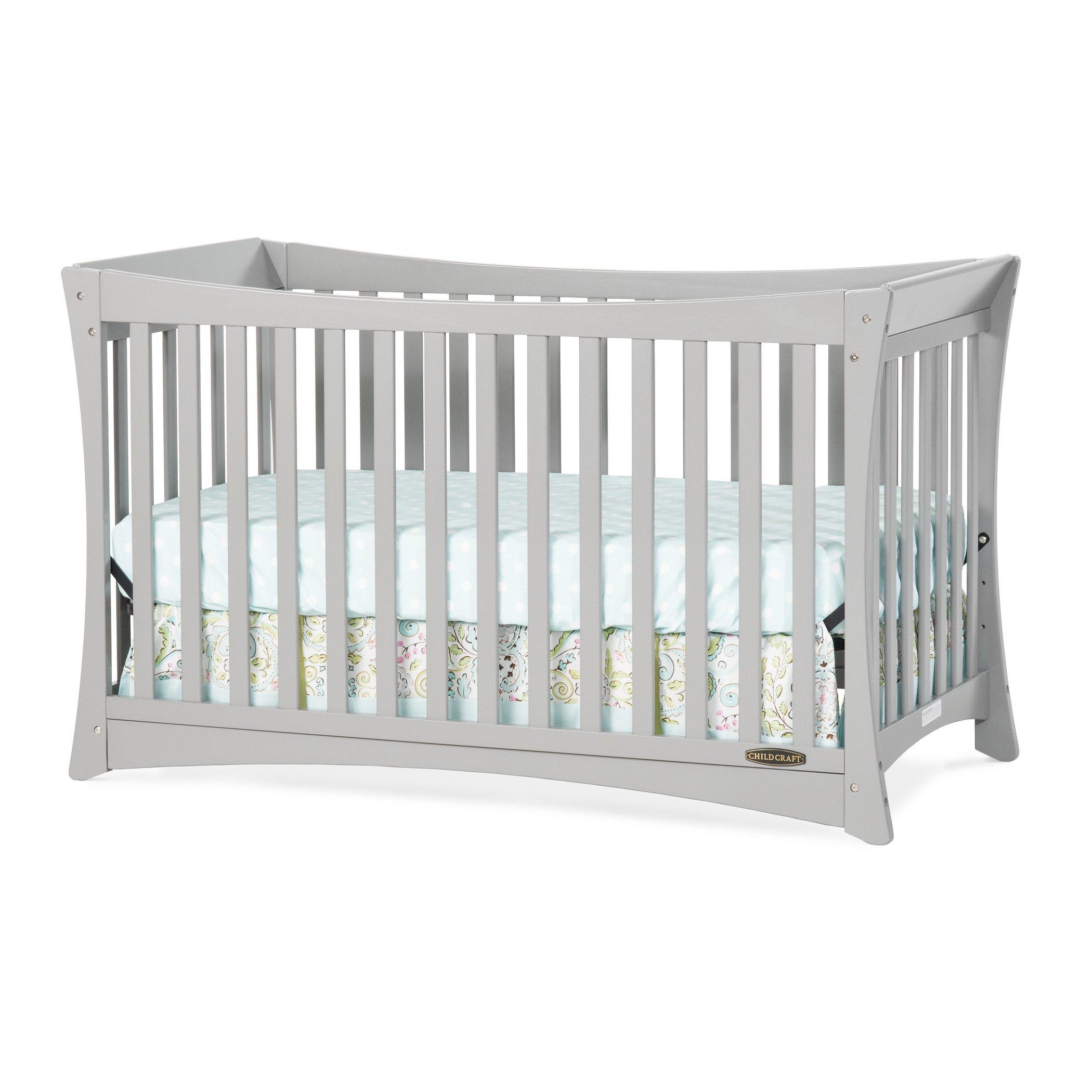Child Craft Parisian 3-in-1 Convertible Crib, Cool Gray