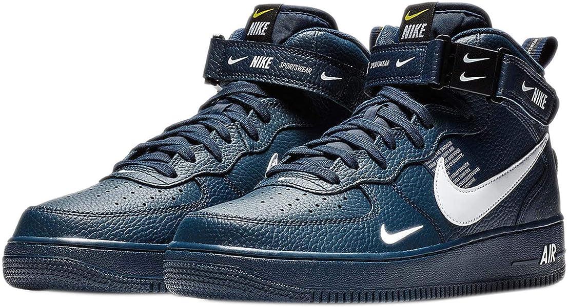 best service fc5a6 71b56 Nike Herren Air Force 1 Mid '07 Lv8 Gymnastikschuhe, Blau (Obsidian ...