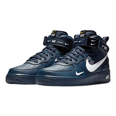 Nike Herren Air Force 1 Mid '07 Lv8 Gymnastikschuhe, blau: Amazon.de ...