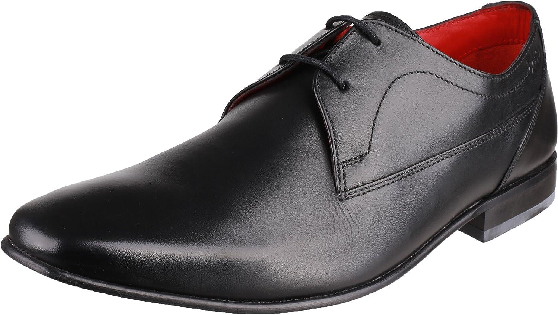 TALLA 45 EU. De Londres de Base PV03 Reloj para Hombre botón de cerosa Blk para Hombre de Piel sintética para con Forma de Zapato de Cordones