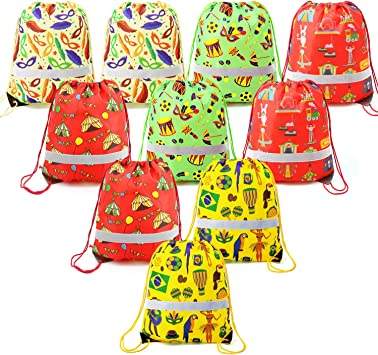 Lot Unicorn Drawstring Backpack Travel Gym Bag Candy Pouch Treat Goodie Bag