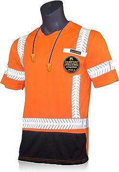 Medium KwikSafety Short Sleeve Solid Tape Safety Shirt