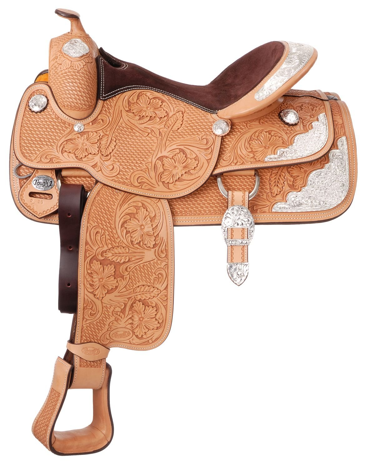 Light Oil 16 1 2-Inch Light Oil 16 1 2-Inch Tough 1 Premium Challenger Silver Show Saddle